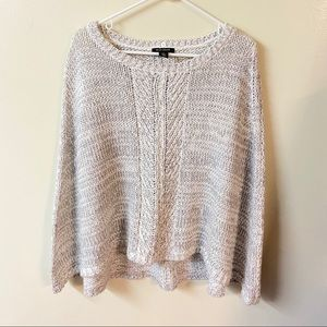 WHBH White House Black Market Cable knit poncho